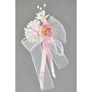 Бутоньерка №31, розовый (орхидея мини) фото
