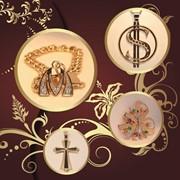 Ювелирные изделия, украшения из золота, подвески, кулоны, кольца, браслеты фото