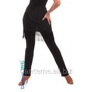 Dance Me Брюки женские БРЛ322, масло / бахрома, черный фото