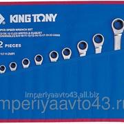 Набор комбинированных трещоточных ключей, 8-24 мм, чехол из теторона, 12 предметов KING TONY 12112MRN фото