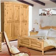 Кровать из натурального дерева. Модель Рим (Рома) фото