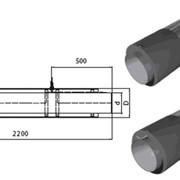Концевой элемент трубопровода с кабелем вывода фото