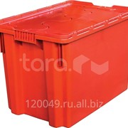 Пластиковый ящик с крышкой 600x400x400 Арт.605-1