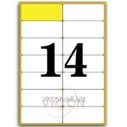 Этикетки самоклеящиеся белые, скругленные углы, 14 на листе. размеры: 99,1 x 38,1 mm EA7014-R фото