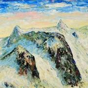 """Пейзаж """"Солнце в горах. Альпы"""" фото"""