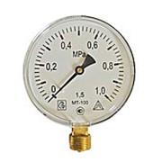 Манометр 0-10 bar радиальный 100 мм метрическая резьба 20*1,5 фото