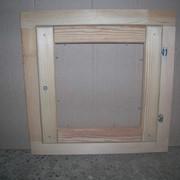 Деревянное окно для бани 500*500, без покрытия фото
