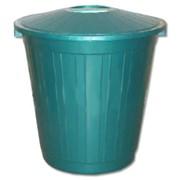 Бак для мусора синий 80 л фото