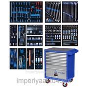 Набор инструментов в синей тележке, 286 предметов KING TONY 934-010MMB фото