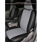 Чехлы Nissan Note 05 диван цел. спинка 1/3, 5п/г,2п/л,АВ. чер-сер аригон,черный аригон Классика ЭЛиС фото