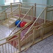 Игровые детские горки для детских садов 2.5х0.75м фото