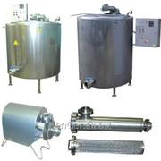 Комплект оборудования для приготовления, пастеризации и охлаждения рассолов и маринадов, производительность 250 л/ч фото