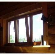Брус клеевой оконный. фото