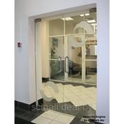 Стеклянные двери и перегородки в Гомеле фото