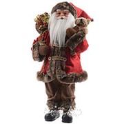 Санта в красном полушубке, 45 см (Kaemingk) фото