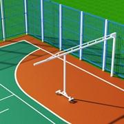 Стойка поворотная баскетбольная с выносом 7,20 м (для открытых площадок размером 40 х 20 м) БС-720 фото