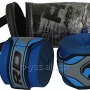 Бинты боксерские RDX Fibra Blue 4.5m фото