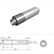 Концевой элемент стальной в оцинкованной трубе-оболочке с торцевым кабелем вывода d=159 мм, s=4,5 мм, L=150 мм фото