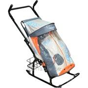 Санки-коляска Герда-42-Р4 с корзинкой фото