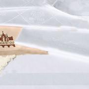 Нанесения логотипа в структуре ткани фото