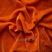 Велюр стрейч цвет оранжевый В 02 фото