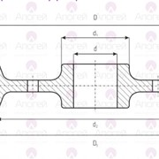 Колесо крановое двухребордное ходовое К2Р 250х70 фото