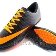 edf4c930 Футбольные сороконожки Nike Mercurial Victory Turf Black/Orange/Gray фото