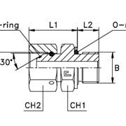 Прямой адаптер с накидной гайкой, уплотнение тип Н Метрическая резьба фото