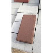 Плитка тротуарная Кирпичик коричневый цвет фото