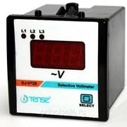 Электронный вольтметр на 3 фазы щитовой панельный 72х72 мм фото