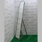 Зеркало напольное, 500Lx1550Hx500D мм, полотно 1500х250 мм. 5MS-01(белый матовый) фото