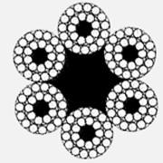 Канат стальной двойной свивки 6x24(FE+9+15)+7FE ДИН 3068 фото