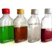 Бутылка стеклянная Фуксия 100 мл в форме фляги фото