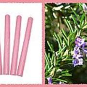 Свеча восковая №80 розовая с ароматом розмарина фото