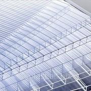 Сотовый поликарбонат, прозрачный, толщиной 10 мм, вес 1,7 кг/м2, размер 2100*6000 фото