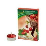 Свечи ароматизированные чайные в гильзе клубника (6шт/уп) (20 уп/кор) фото