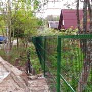 Забор для дачи из сетки гиттер  550 р за п.м. фото