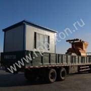 Кабина оператора бетонного завода БРУ фото