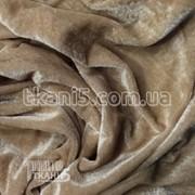 Ткань Велюр (темно-бежевый) 86 фото