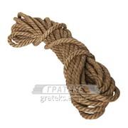 Веревка джутовая д. 14мм /50м.п./ фото