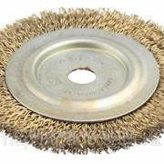 Щетка дисковая для шлиф маш, стальная, 32мм / 200мм Код:3518-200-32 фото