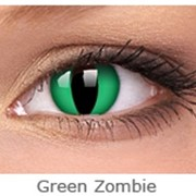 Линзы Crazy INTEROJO Adria Crazy Green Zombie Сила 14 фото