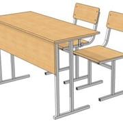 СУ-1.6 Стол ученический + 2 стула, Парты школьные фото