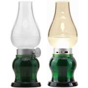 Керосиновая лампа ночник светодиодная (LED), Зелёный фото