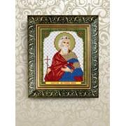 """Рисунок на ткани для вышивания бисером """"Святая Мученица Инна"""" VIA5088 фото"""