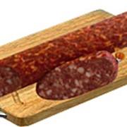 Колбаса подкопченная салями Полесская фото