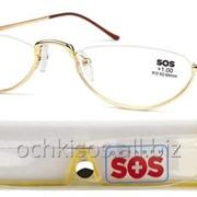 Очки для чтения SOS унисекс модель P 002 Gold фото