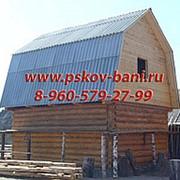 Сруб бани 4х4 стандарт + мансарда (ломаная крыша). фото