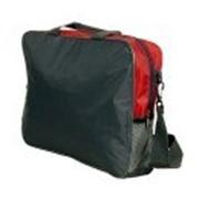Конференц - сумка (400x290x80, серый + красный, полиэстер) фото