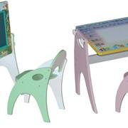 """Набор детской мебели """"Парта-мольберт-трансформер"""" фото"""